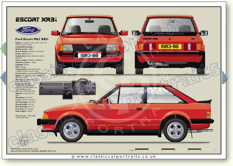 XR3i 3dr 1983-86 Classic Car Portrait